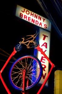 Johnny Brenda's street sign