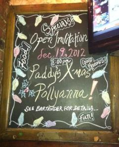 Paddy's Chalkboard