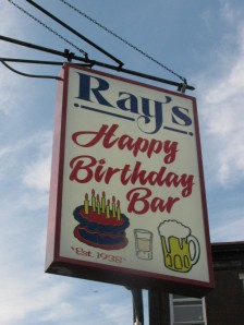 Ray's Happy Birthday Bar Sign